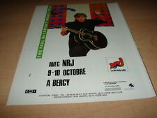 PAUL MC CARTNEY - BERCY OCTOBER!!!!!!!!!!!FRENCH ADVERT