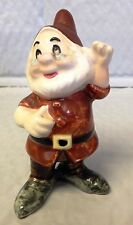 "Vintage 7 Dwarfs Porcelain Figurine Doc ""Walt Disney Prod."" Stamp~MINT Condition"