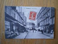 1911 CPA Originale  PUTEAUX Rue de Paris  Animée