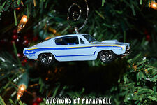 Classic '68 '69 '70 '71 Hemi Cuda Christmas Ornament 1/64 Chrome Barracuda