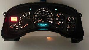 00-02 Silverado Sierra Speedometer Instrument Gauge Cluster w/ Trans Temp