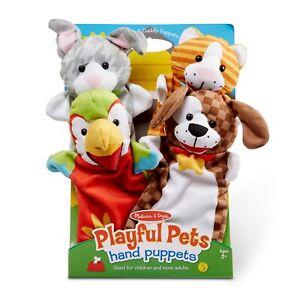 Melissa & Doug ~ Playful Pets Hand Puppets 2+