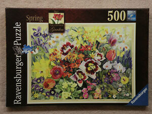 Ravensburger, RARE! The Cottage Garden No.1, SPRING, 500pc Puzzle, FREE SHIP!