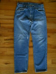 Levis 505 Vintage Jeans 36X34 Orange Tab Straight Leg Zip Distressed Made in USA