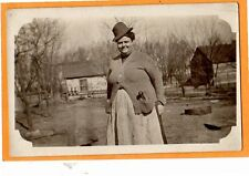 Real Photo Postcard RPPC - Masculine Woman with Pipe - Possible Lesbian Interest