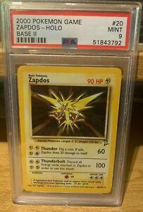 Zapdos Base Set 2 20/130 PSA 9 Mint Rare Holo Pokemon 2000 POP 245
