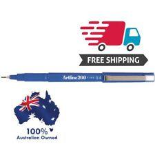 Artline 200 BLUE 0.4mm Fine Line Pens Box (12)