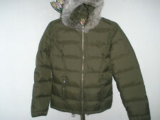 Women's/Junior's Twisted Heart Down/Feather Jacket Removable Fur on Hood Sz Med