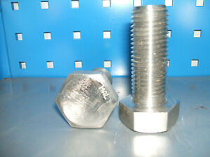 M27 x 70mm Stainless steel set screw bolt Qty 2  DIN933 A4-70
