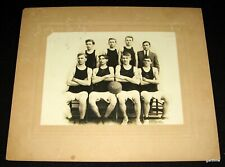 ARKANSAS 1911 BASKETBALL TEAM ORIGINAL PHOTO WTS WARREN ARTURA STUDIO