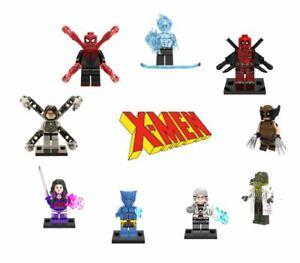 Lego XMen Minifigures Marvel Avengers Spider Man Wolverine Deadpool Hulk Mutant