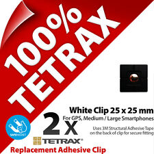 2 x Tetrax Replacement Adhesive Clip 25 x 25 mm Black (For use with Holder)