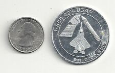 """AIR FORCE """"CROSS INTO THE BLUE"""" LARGE ALUMINUM COIN ~ AIRFORCE.COM"""