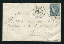 Rare lettre de Calvi pour Ajaccio ( 1871 ) avec un n° 45C - Cachet GC 702
