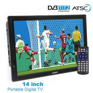 14 inch HD Portable TV DVB-T2 ATSC Digital Analog Television Mini Small CarMJnd