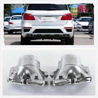 2x Exhaust Pipe Tips For Mercedes-Benz ML W166 GL63 AMG X166 Stainless Steel