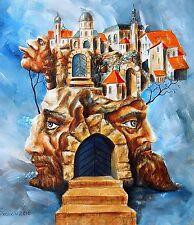 Original Painting oil on canvas contemporary Art Surrealism postimpressionism