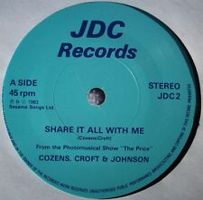 COZENS CROFT JOHNSON Share It All With Me / Bow To Competition JDC PRIVATE PRESS