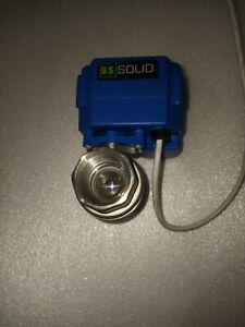 """NEW GENUINE U.S. SOLID 3/4"""" MOTORIZED BALL VALVE STAINLESS STEEL ADC 9-24V 2 W"""