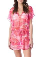 NWT Ralph Lauren Cover up Sheer Tunic Dress Size M Coral Mesh  Adj. Waist