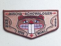 NISCHA ACHOWALOGEN OA LODGE 486 SCOUT SERVICE FLAP PATCH 1996 NOAC DELEGATE !