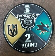 Vegas Golden Knights Stadium exclusive 2018 Stanley Cup Playoff Puck Sharks New