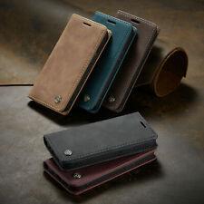 Leder Magnet Karten Wallet für original Samsung HandyTasche Schutzhülle Klappbar