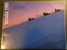 "VINTAGE 1988 YAMAHA SNOWMOBILE SALES BROCHURE POSTER SIZE 17"" X 44""   (406)"