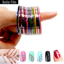 30pcs/lot Matte Glitter Nail Striping Tape Line Adhesive Stickers Manicure Tools