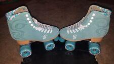 Roller Derby Candi Girl U774 Carlin Quad Artistic Roller Skates Seafoam Ladies 8
