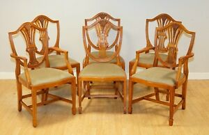 STUNNING BRADLEY WHEATEAR YEW WOOD DINING CHAIRS SET OF 6 RRP £2,500
