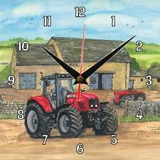 No.23 Massey Ferguson Tractor Sue Podbery Wall clock great handmade gift present