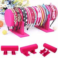 Headband Rose Velvet Hair Band Holder Retail Shop Display Jewelry Stand Rack