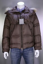 NWT New * TOM FORD * $7500 Brown Winter Down Puffer Fur Hood Coat 38/Small