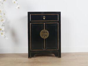 chinesische Kommode  Orientalisch/Asiatisch Stil schwarz #M-KOM-Yb57