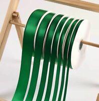 91m/100yd Green Satin Polyester Ribbon Christmas Wedding Favor Box Gift Wrapping