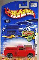 2002 Hot Wheels #31 First Edition 19/42 CUSTOM '69 CHEVY Red w/Pr5 Spoke Wheels