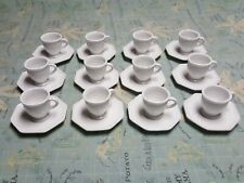 Lot of 12 Demitasse Cup & saucer sets.  SHABBY CHIC Wisteria china PORTUGAL