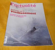 L'Actualité Poitou-Charentes  Recherche Sur Le Vieillissement revue