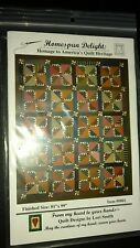 "Homespun Delight American Quilt Pattern Lori Smith  0801 finish 81""x 99"" NEW"