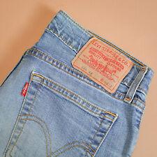 Levi 544 Jeans Flare Leg Zip Fly Blue Vintage Women's (LabelW30L32) W 30 L 31
