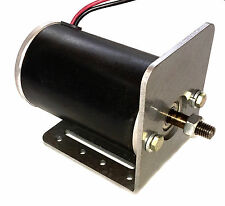 1 hp 12 volt electric permanent magnet DC motor / generator W/base plate