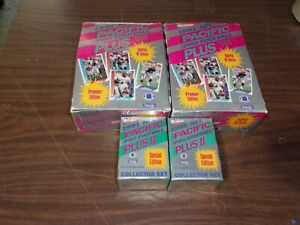 (2) 1991 NFL Pacific Pro Football Plus Hobby Wax Boxes 36 Packs + 2 Update Sets