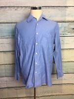 HUGO BOSS Mens Blue  Button Down Sharp Fit Dress Shirt sz 16 - 34/35