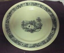 Ancienne assiette plat avec décor - Oude plaat met decor BOCH FRERES LA LOUVIERE