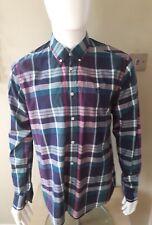Mens Henri Lloyd Shirt Size Large Checkered Long Sleeve VGC