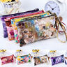 Women PU Purse Wristlet Wallet Zipper Bag Phone Key Case Makeup Bag Coin Purses