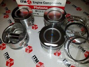 Toyota 22R & 22RE & REC +.020 Oversize Pistons & Chrome Rings Set of (4)