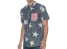 BILLABONG Men's UNIFY S/S Button-Up Shirt - NVY - Large - NWT