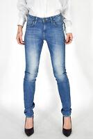 LEE Pantaloni Jeans Blu Casual TG I 32 W 38 Donna Woman